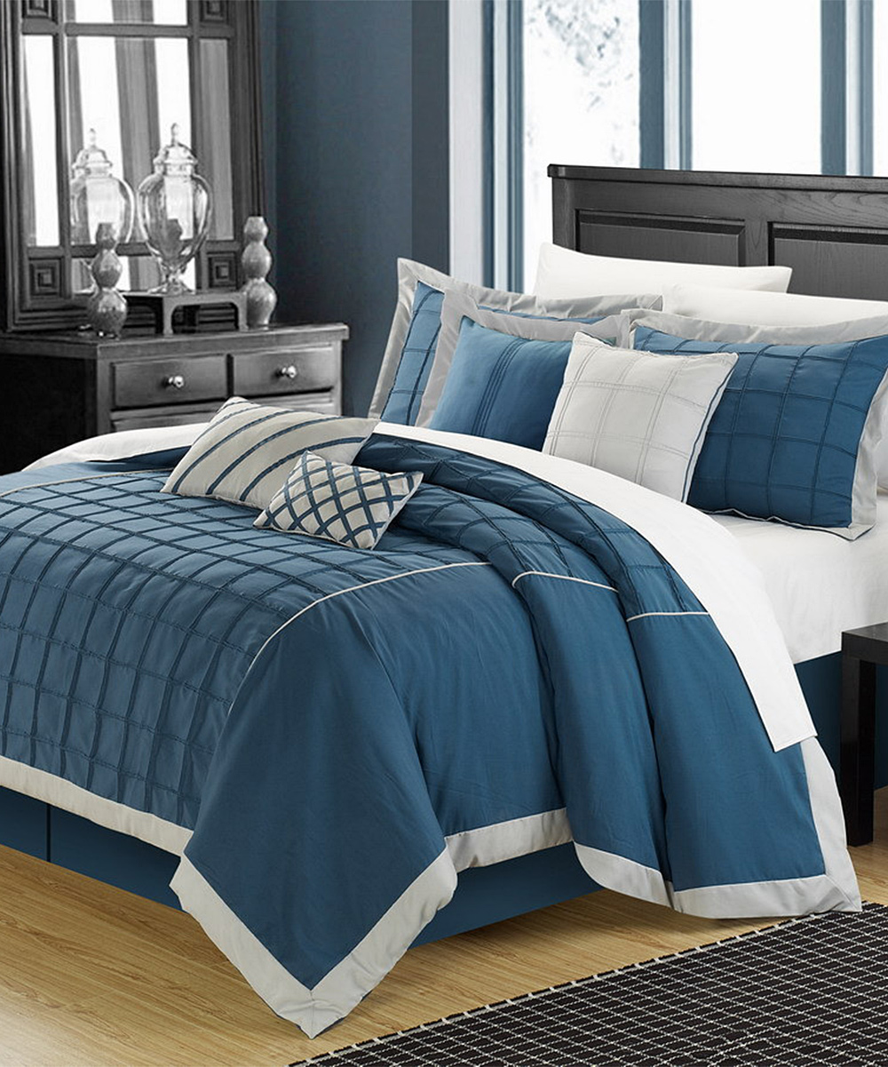 Teal rhodes comforter set Teal bedding sets