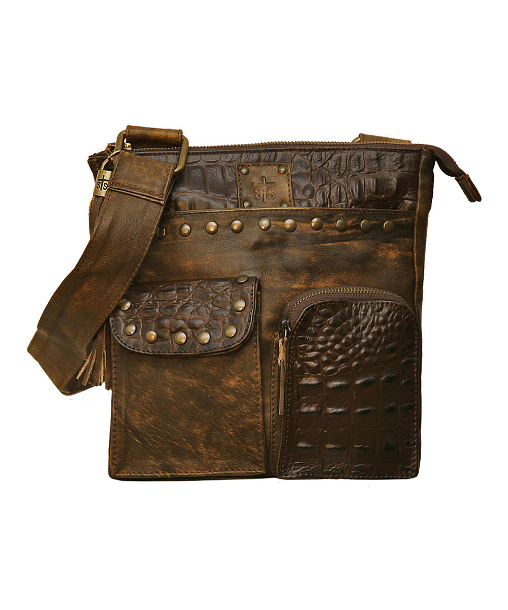 Brown Pony Express Crossbody Messenger Bag