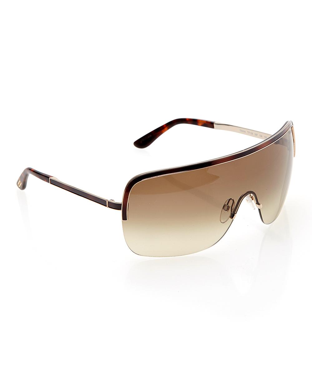 Frameless Glasses : Tom Ford Tortoise Shield Frameless Sunglasses zulily
