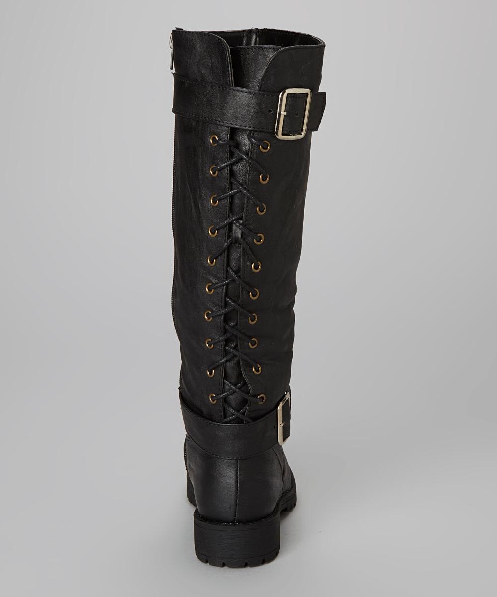 Back lace up boots reanimators