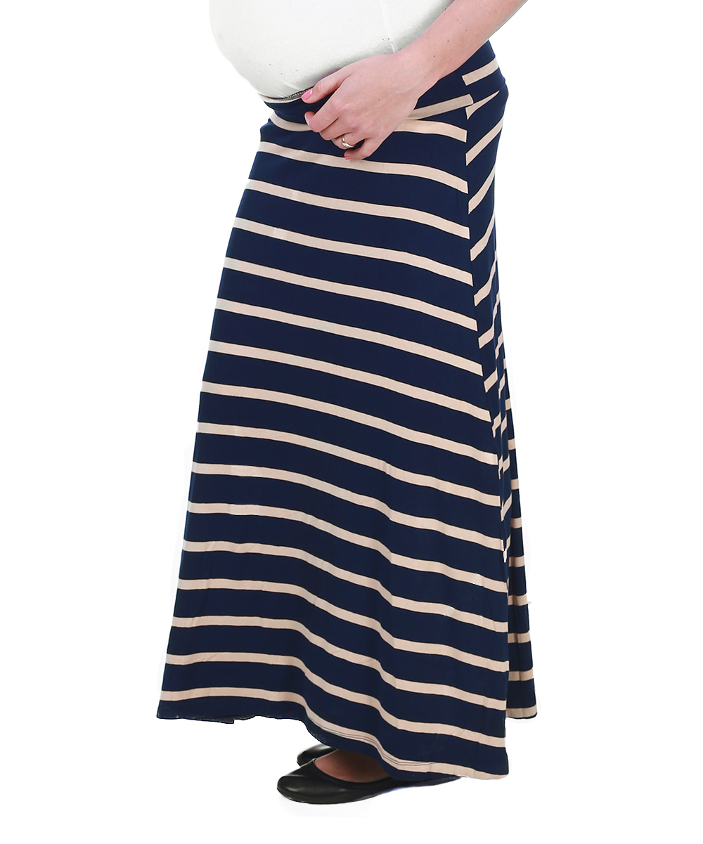 pinkblush maternity navy blue beige stripe maternity