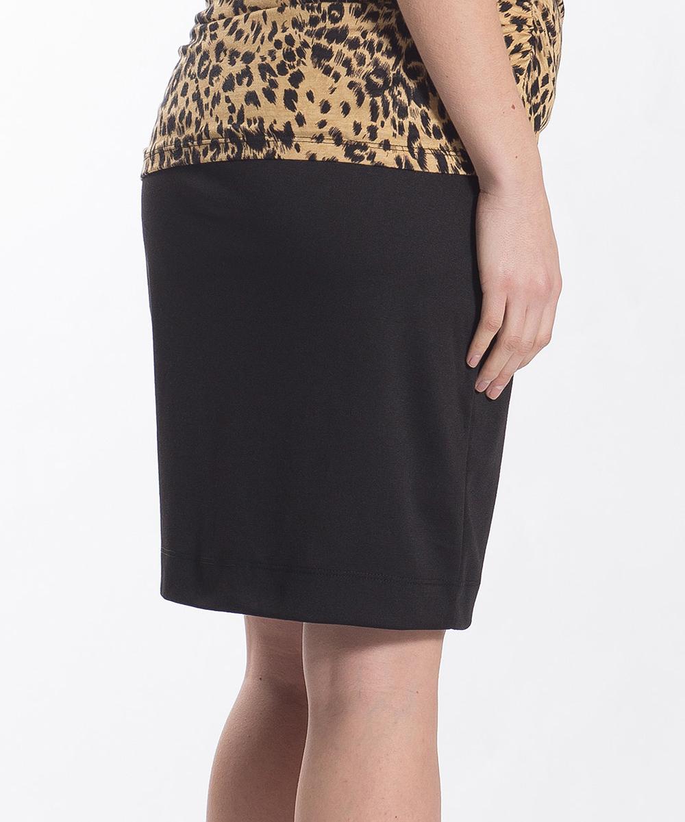 lilac maternity black maternity pencil skirt zulily