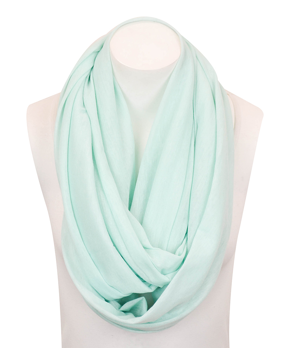 light blue solid jersey infinity scarf