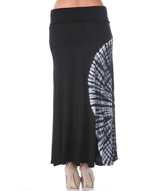 white black tie dye maxi skirt zulily