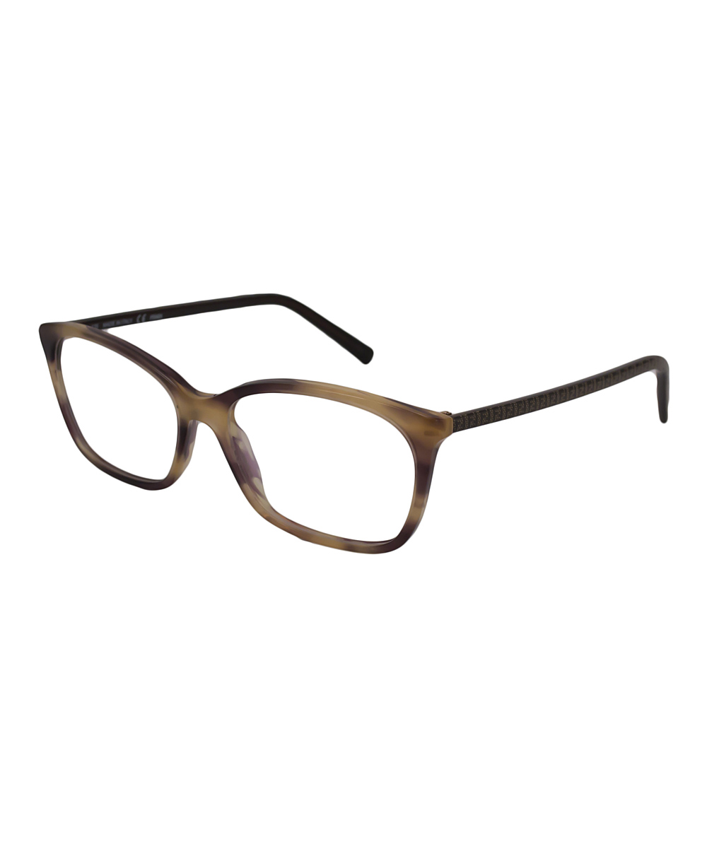 fendi brown marble thin horn rimmed eyeglasses zulily