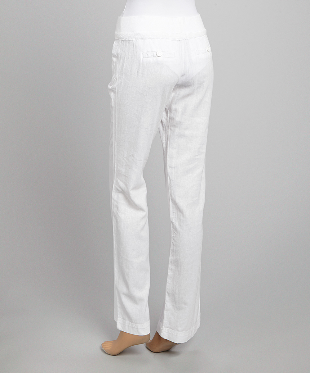 Wonderful White Linen Pants For Women Relaxed Linen Pants Island Company