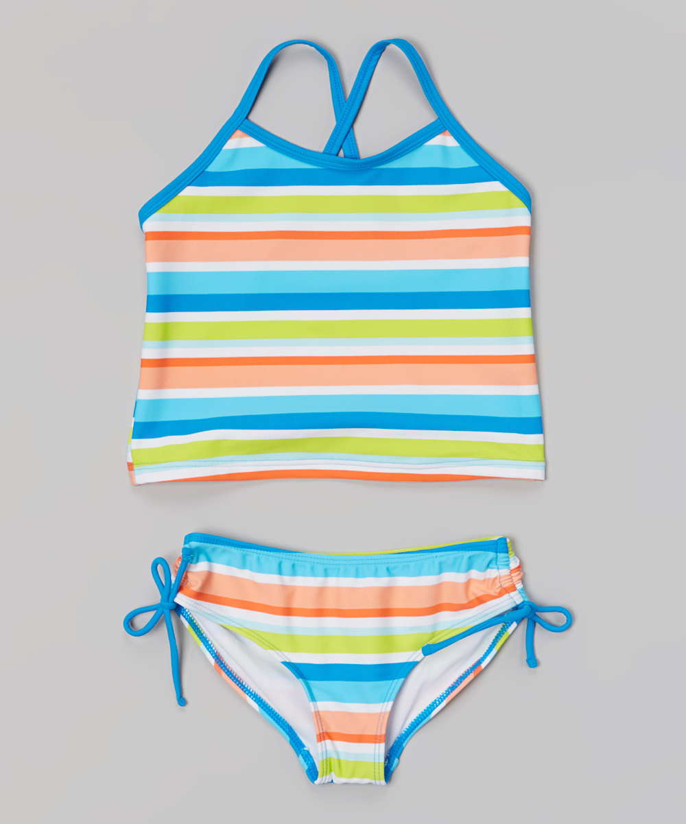 Kanu Surf Blue Stripe Ice Pop Tankini - Infant | zulily