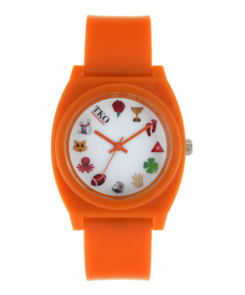 Watch And Clock Emoji Orange emoji watchGuess The Emoji Watch And Clock
