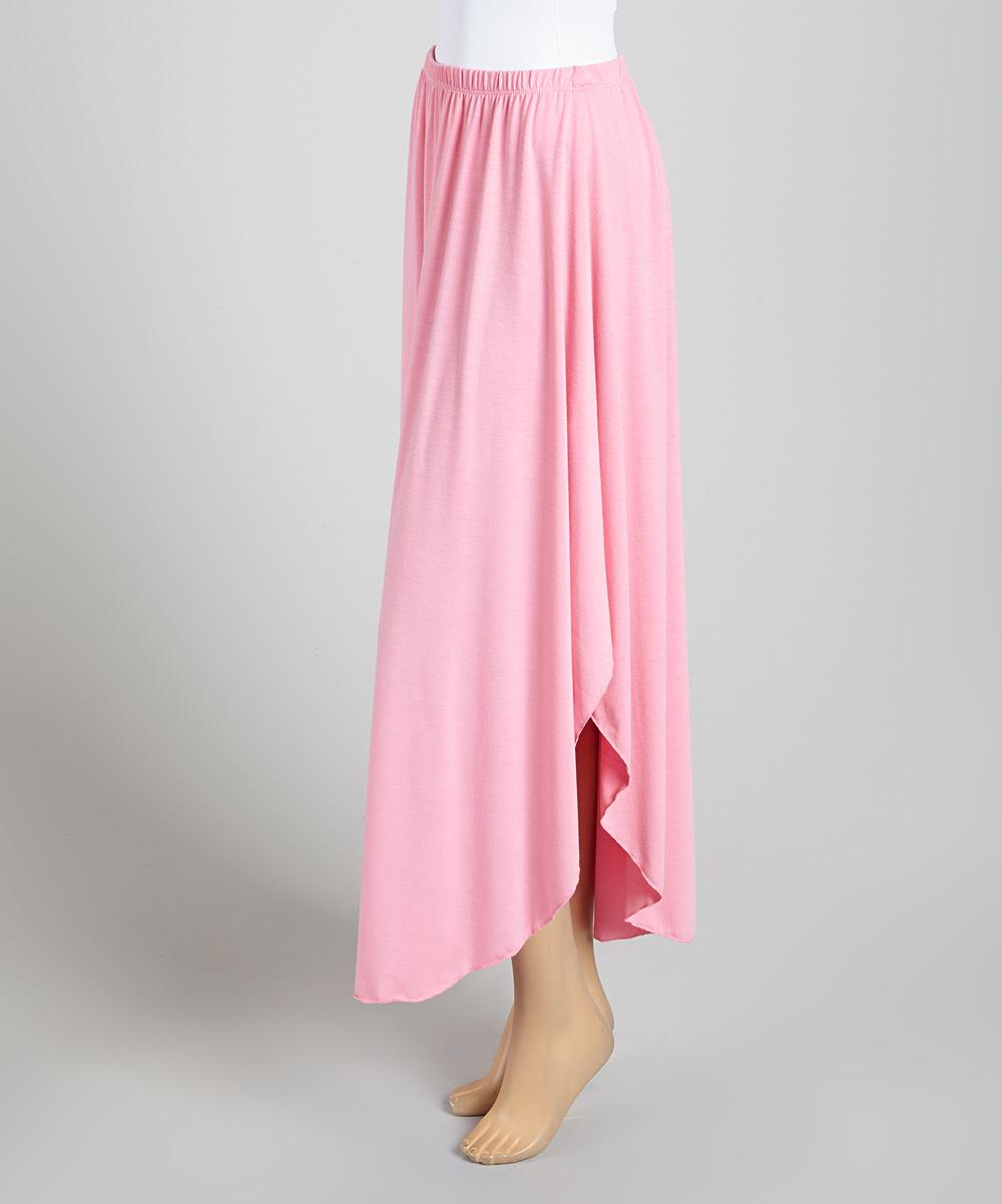 casa light pink maxi skirt zulily