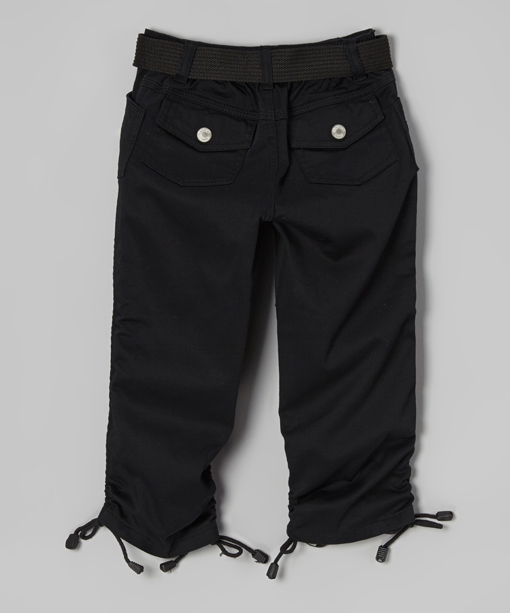 12K Black Cargo Capri Pants - Toddler & Girls | zulily