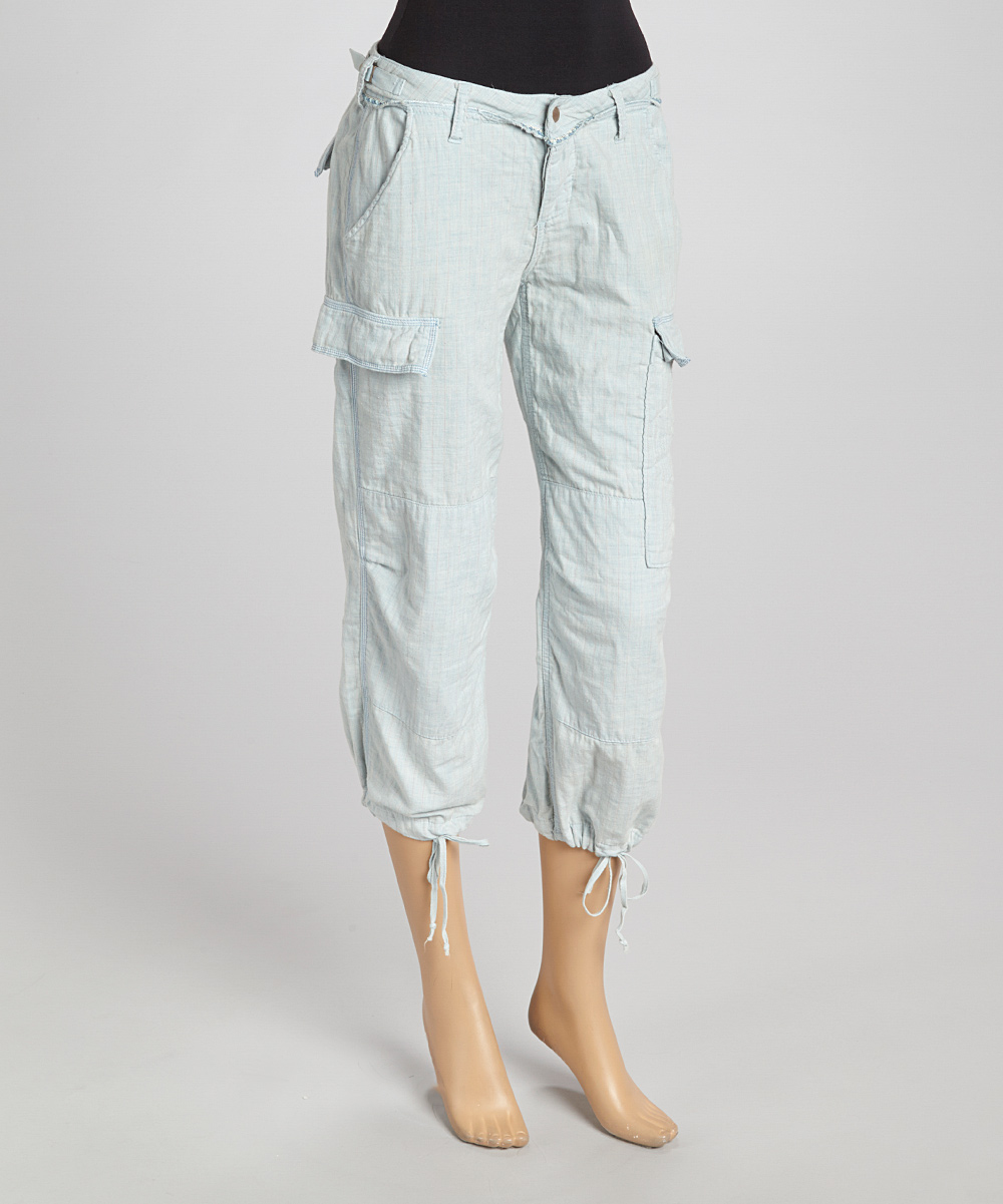 Fantastic Marrakech Womens Anise Twilltape White Cropped Cargo Pants 29 132 New