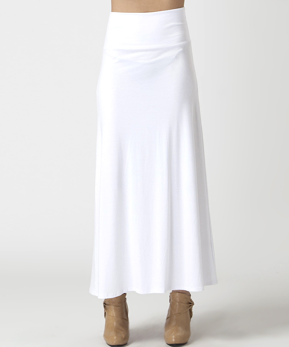 bold beautiful white maxi skirt zulily