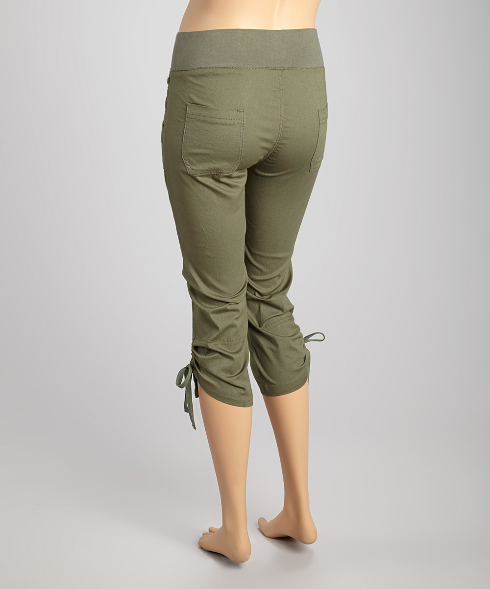 Beautiful Love This Olive Cropped Cargo Pants  Women By Per Se On Zulily