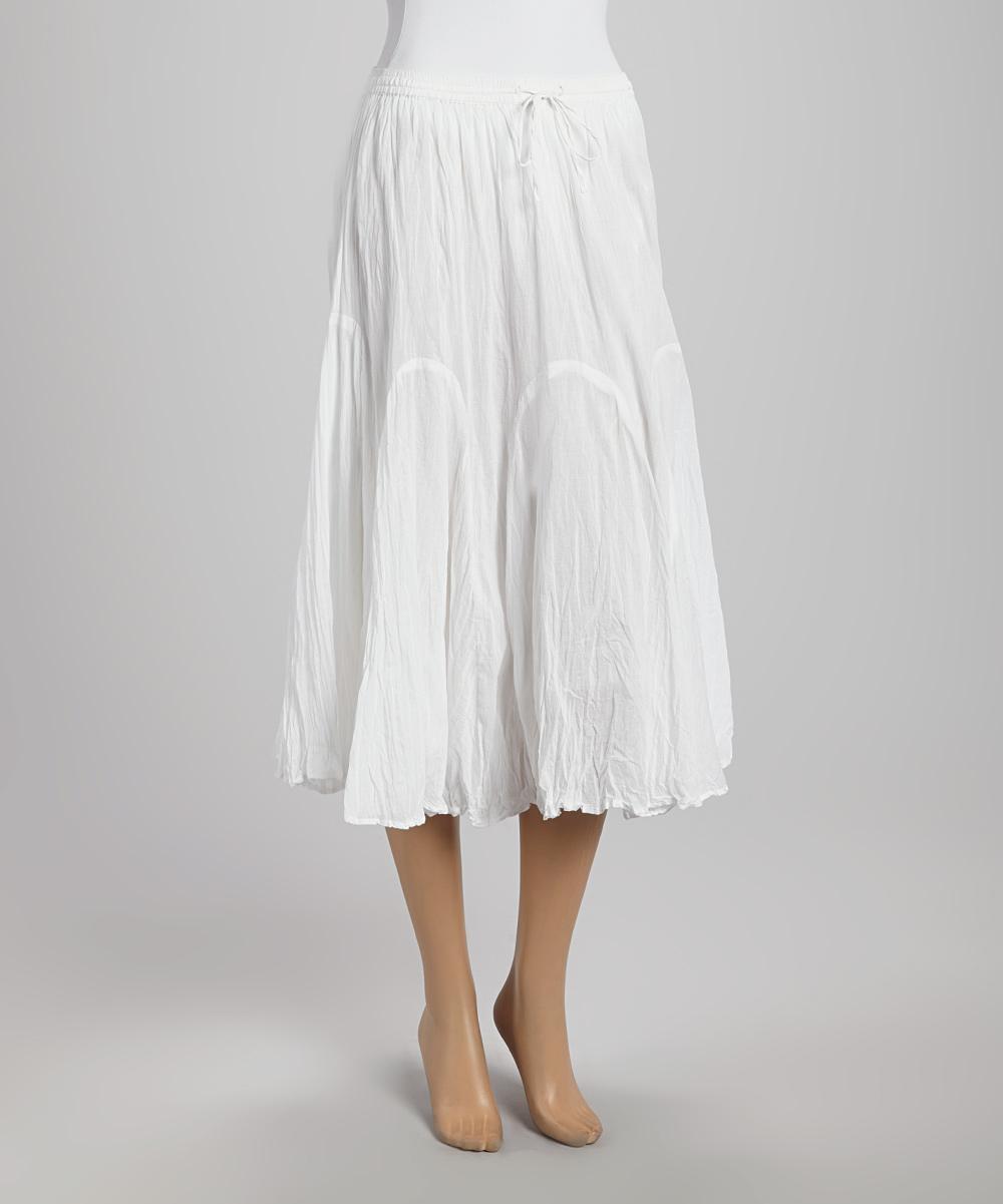 white peasant skirt zulily