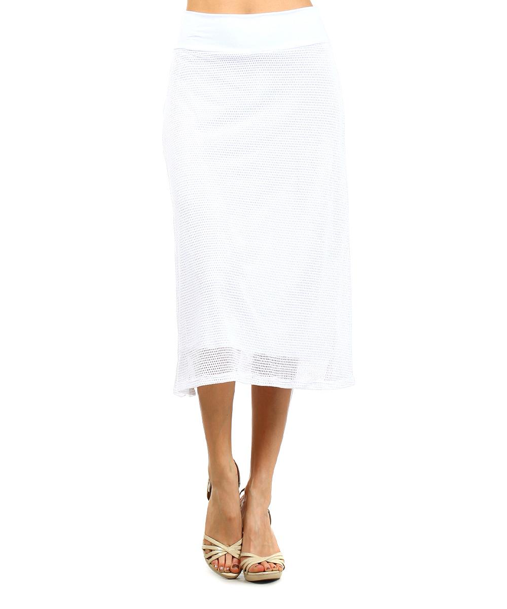 j mode usa los angeles white mesh midi skirt zulily