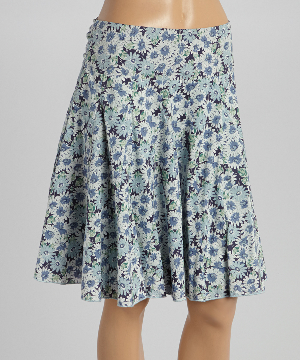 ink floral belted a line skirt zulily