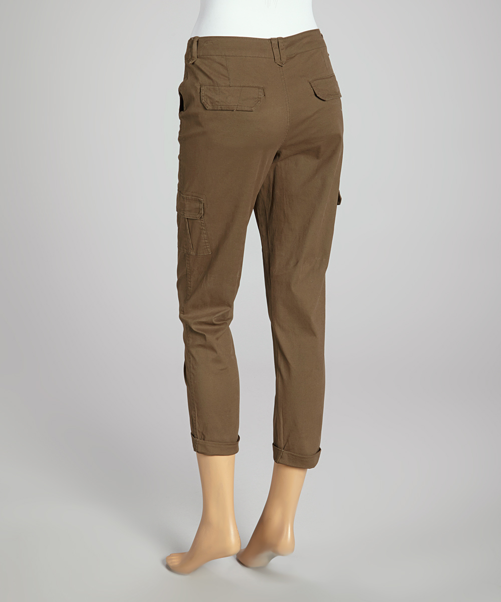 New Carhartt Cargo Cropped Pants For Women In Stone