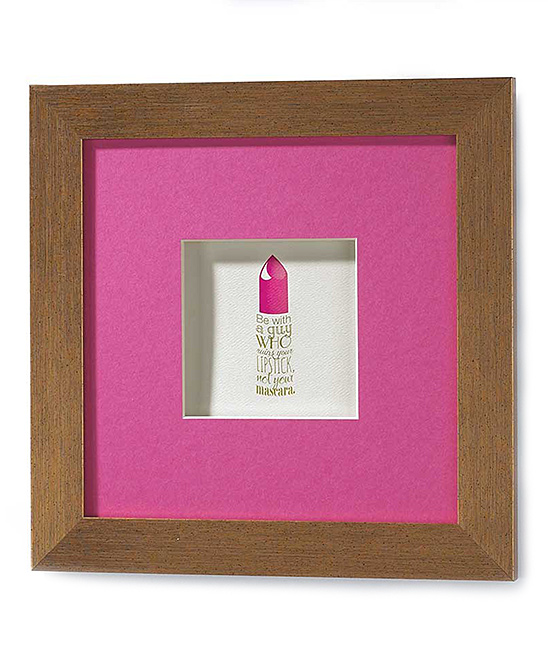 Wall Art Shadow Box : Jozie b lipstick shadow box wall art zulily