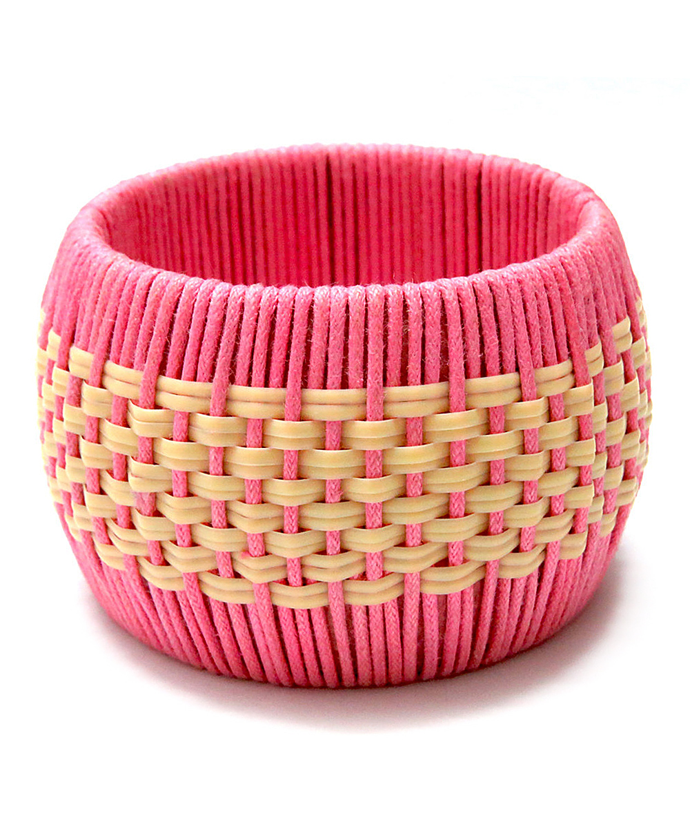 Aniika Pink amp Yellow Thread Bangle Zulily