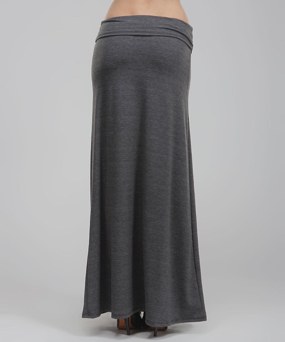 bold beautiful charcoal gray stripe maxi skirt zulily