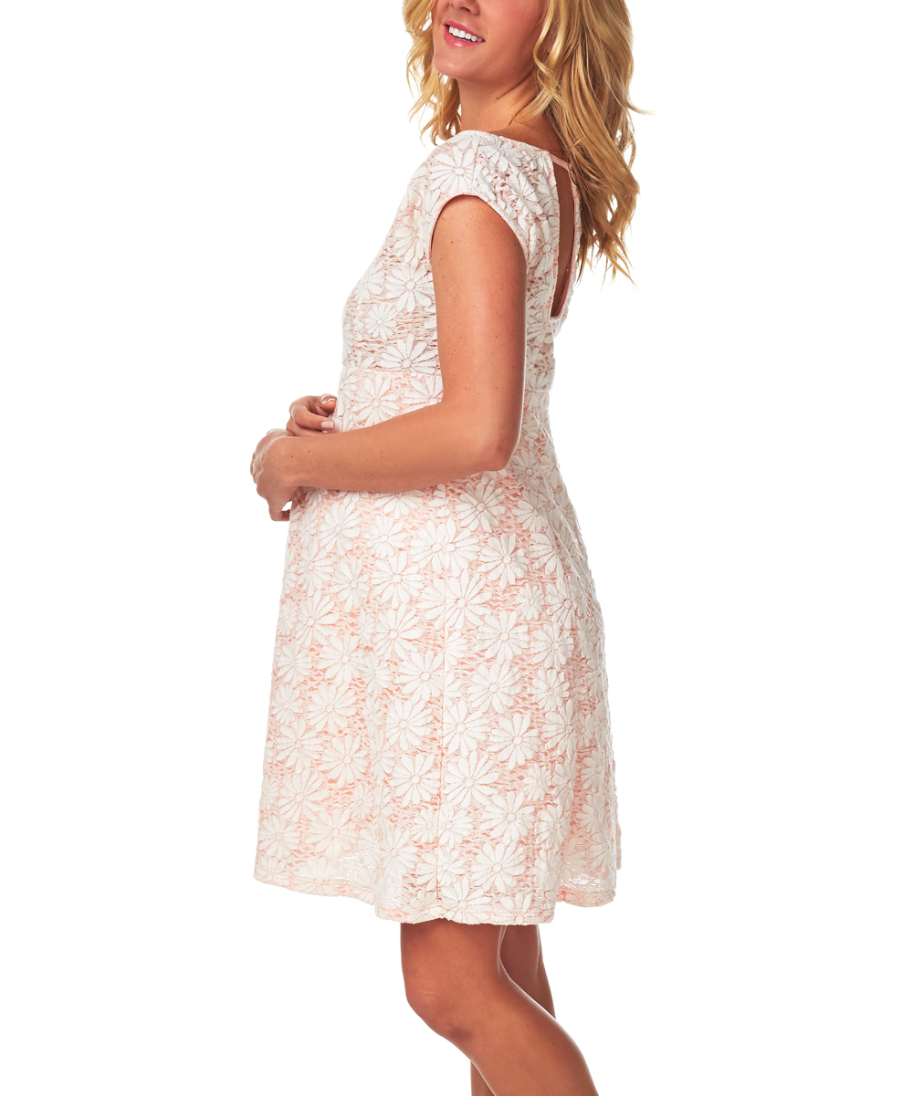 Pink lace maternity dress dress ideas pink lace maternity dress choosing the perfect maternity photo dress dresses from amazon come in off white cream pink black red and navy ombrellifo Images