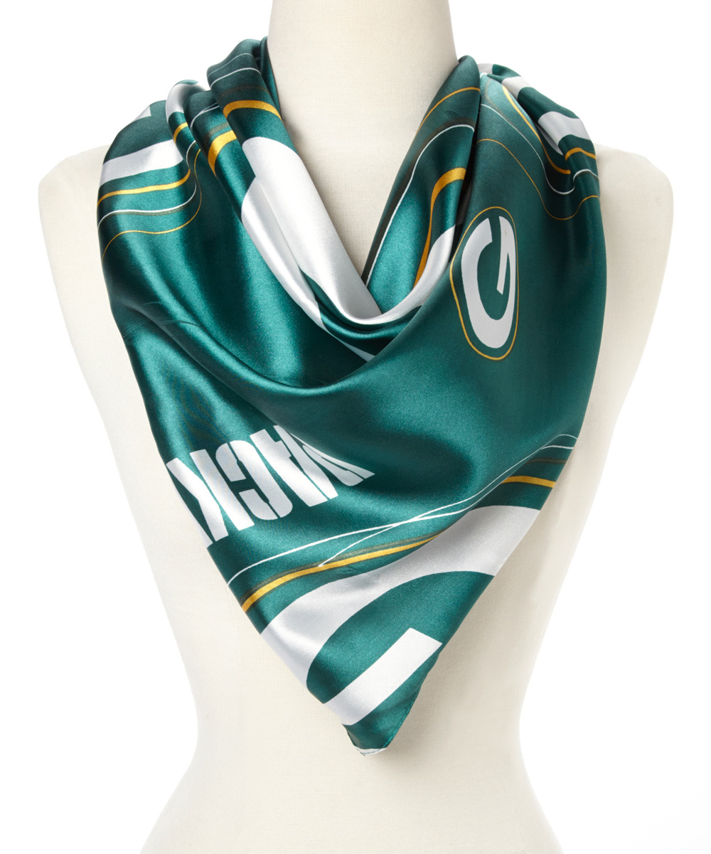 green bay packers silky scarf