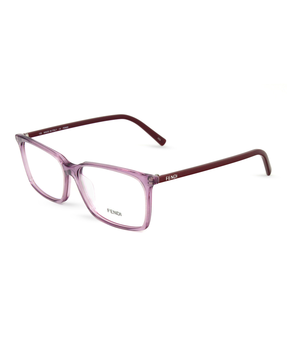 Eyeglasses Frame Square : Translucent Purple Square Frame Eyeglasses