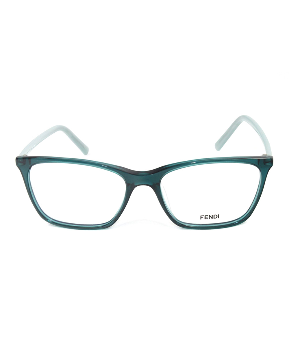 FENDI Translucent Dark Green Square Frame Eyeglasses zulily