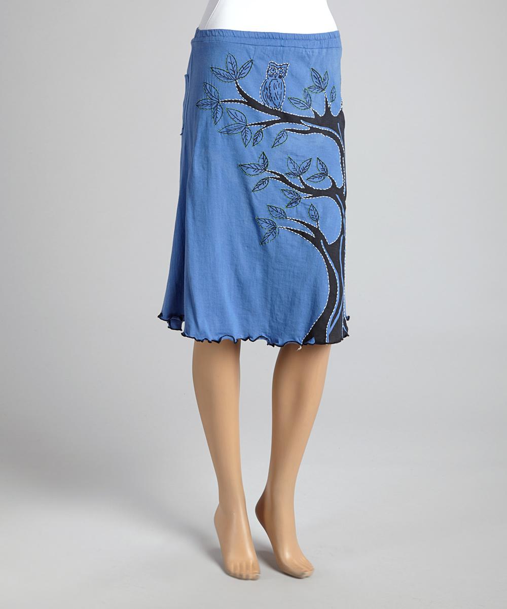jayli blue tree owl ruffle skirt zulily