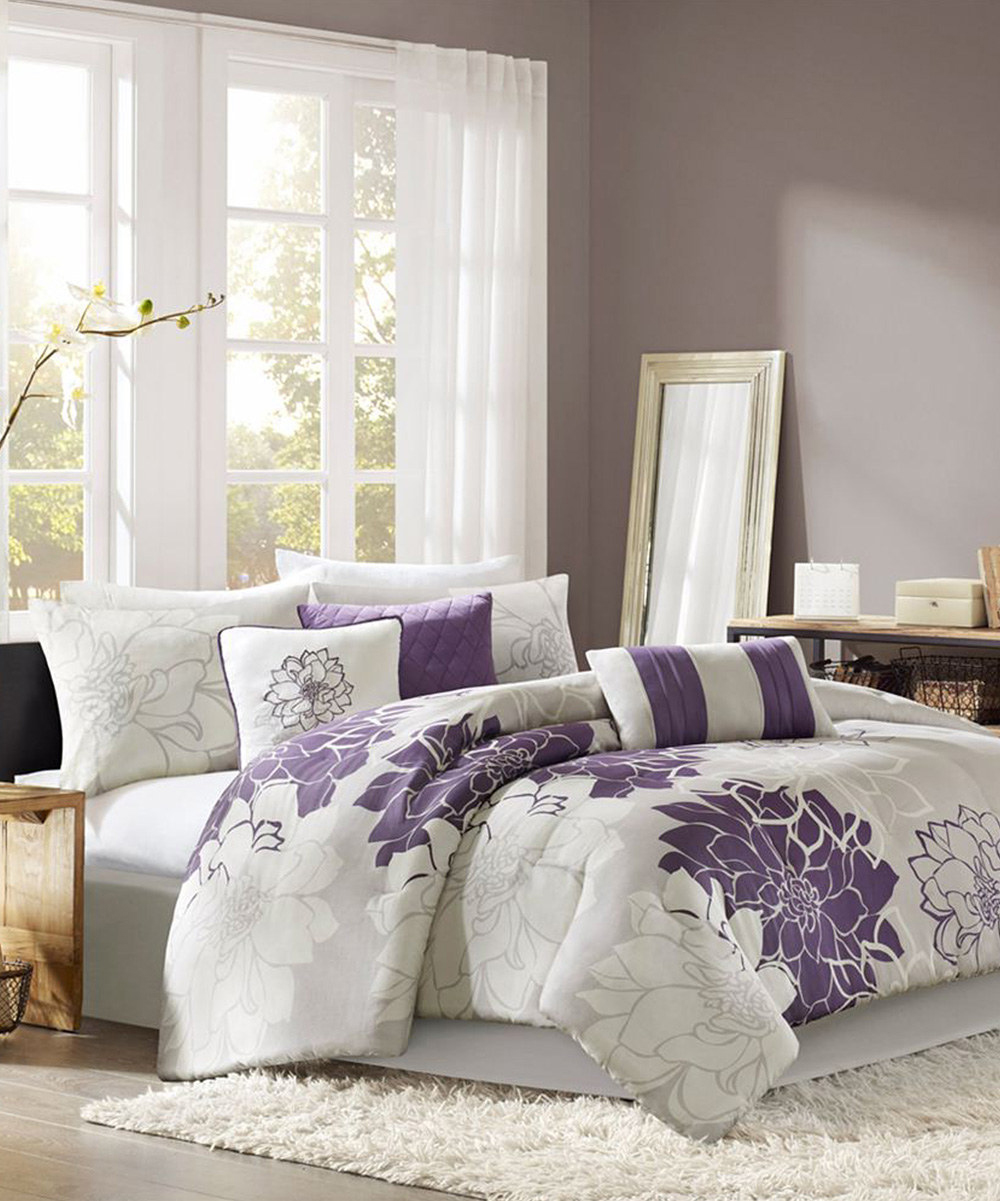 Purple and gray comforter sets memes