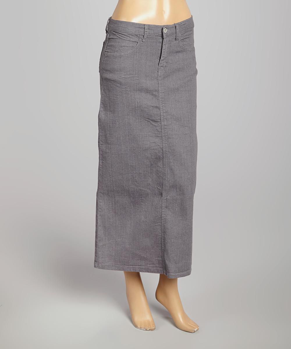 be gray denim pencil skirt zulily