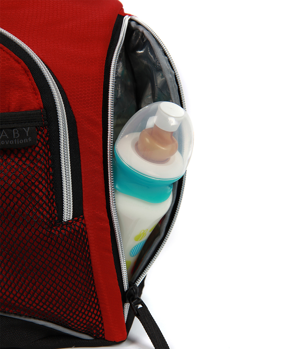 baby innovations red fast track sling diaper backpack zulily. Black Bedroom Furniture Sets. Home Design Ideas