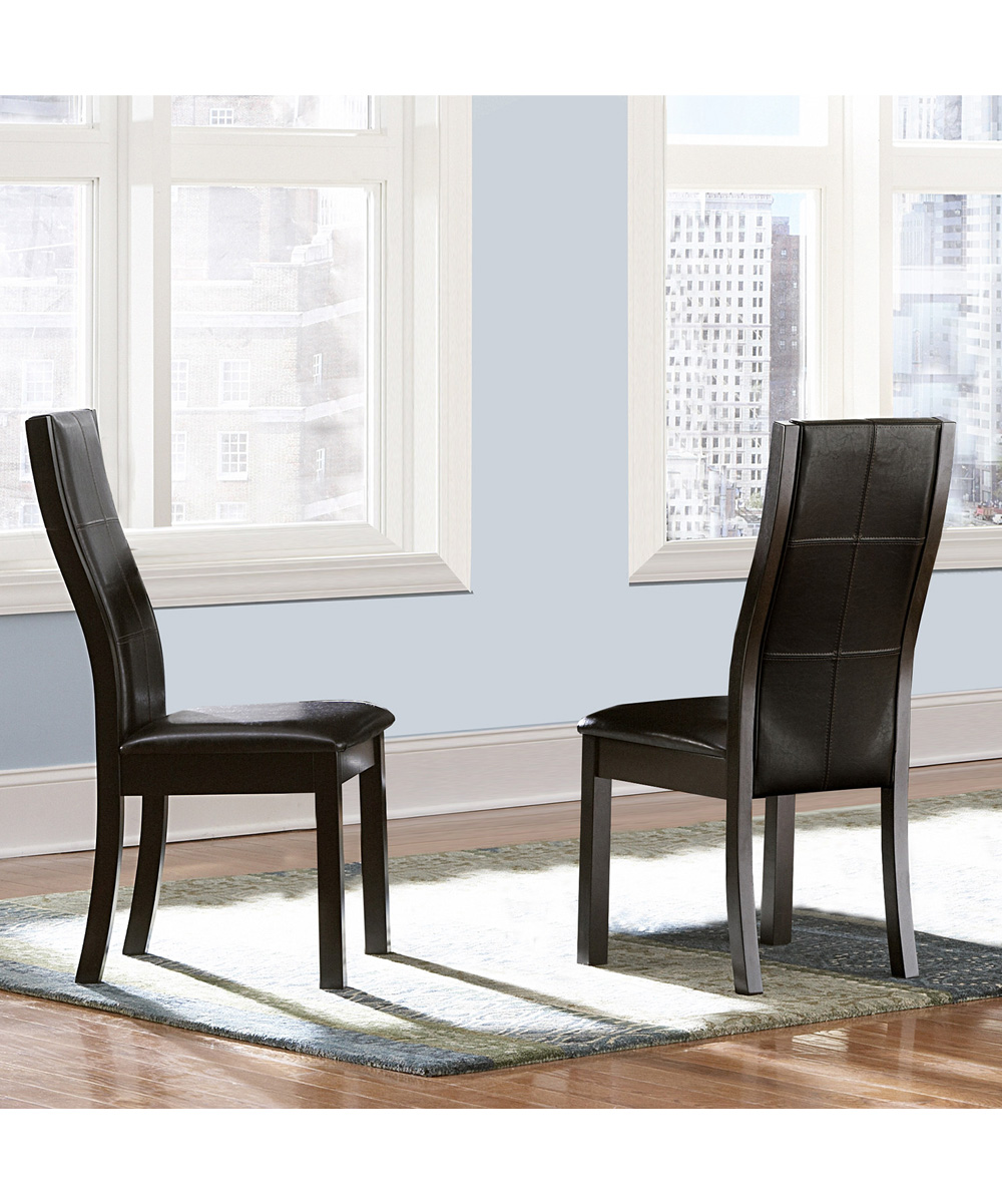 HomeBelle Calgary Dining Chair Set of Two