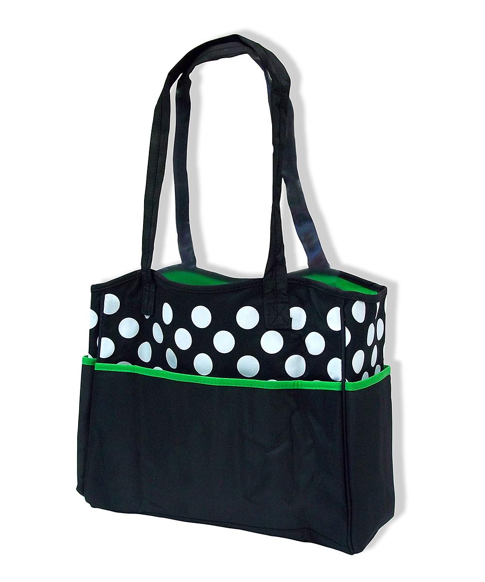 jumpn splash green black ladybug diaper bag changing pad zulily. Black Bedroom Furniture Sets. Home Design Ideas