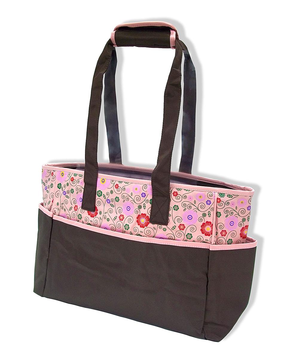 jumpn splash pink cherry blossom diaper bag changing pad. Black Bedroom Furniture Sets. Home Design Ideas