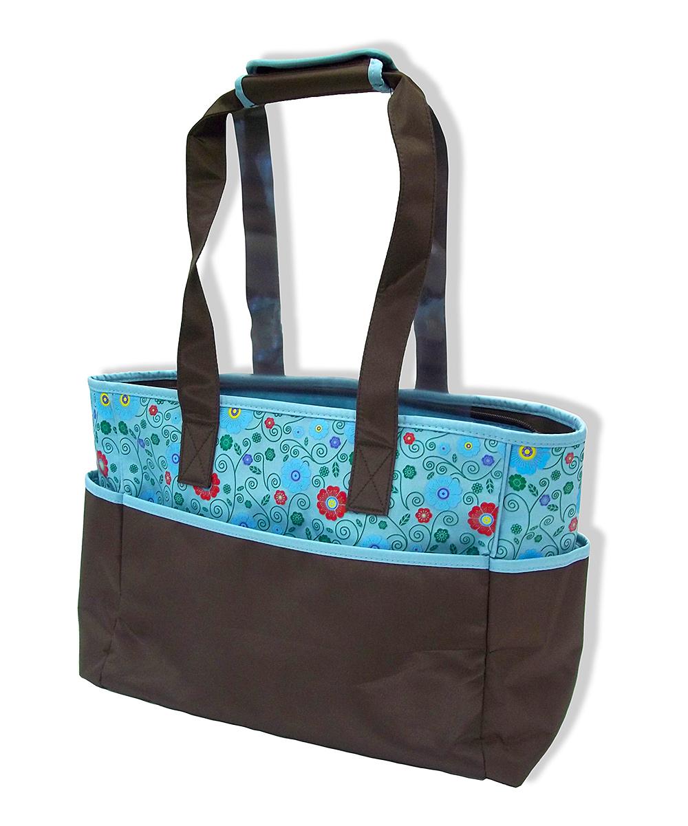 jumpn splash blue cherry blossom diaper bag changing pad. Black Bedroom Furniture Sets. Home Design Ideas