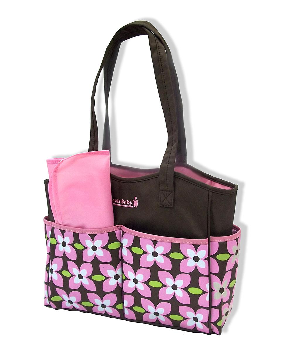 jumpn splash pink floral diaper bag changing pad zulily. Black Bedroom Furniture Sets. Home Design Ideas