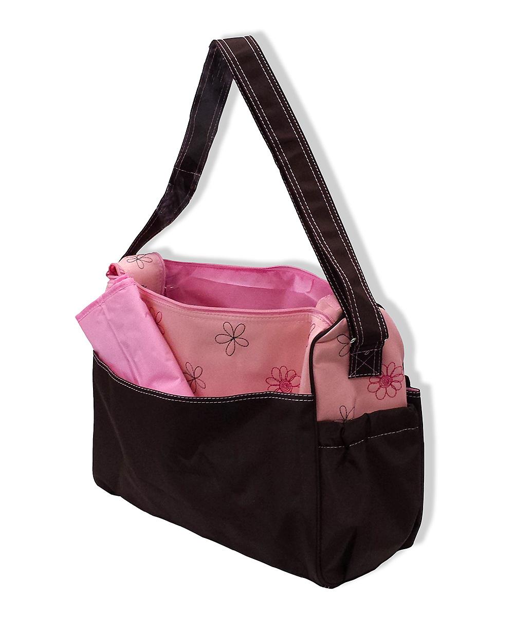 jumpn splash pink daisy baby diaper bag changing pad zulily. Black Bedroom Furniture Sets. Home Design Ideas