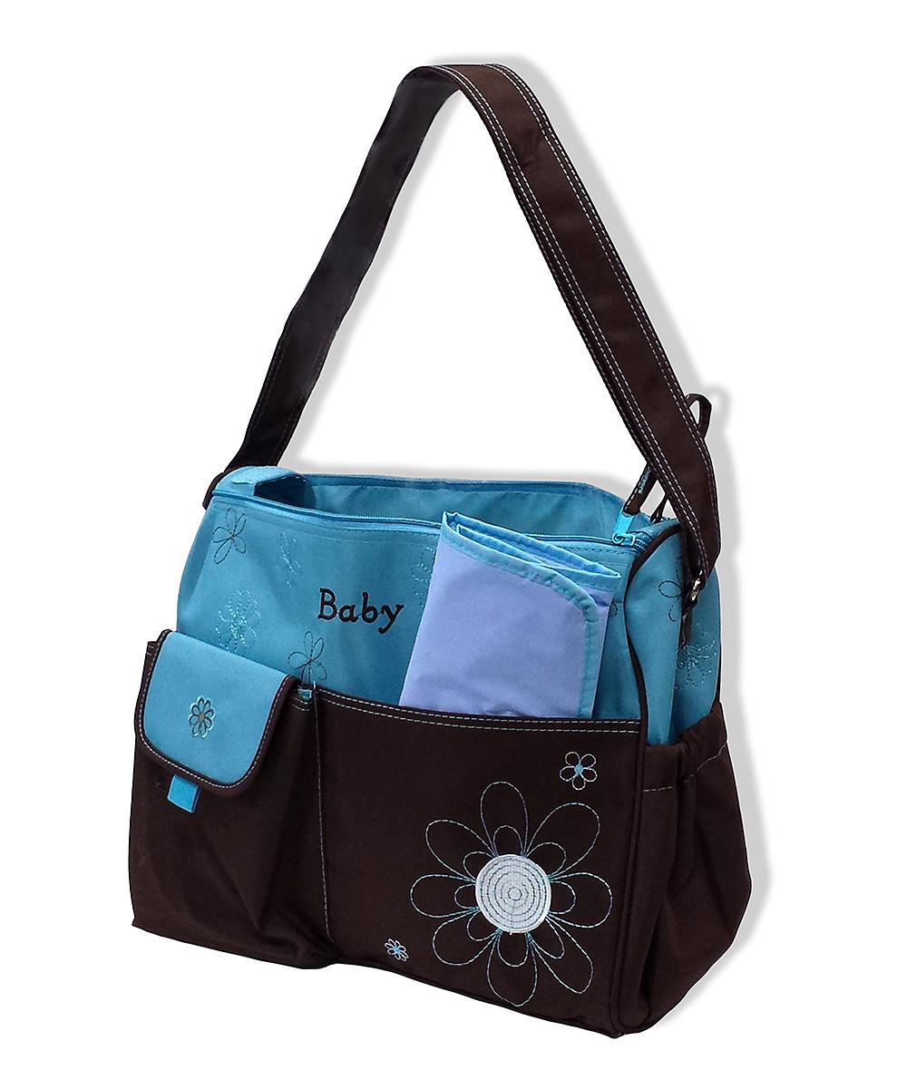 jumpn splash blue daisy baby diaper bag changing pad. Black Bedroom Furniture Sets. Home Design Ideas