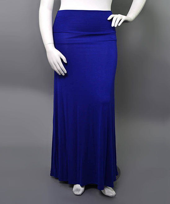 sob clothing royal blue maxi skirt plus zulily