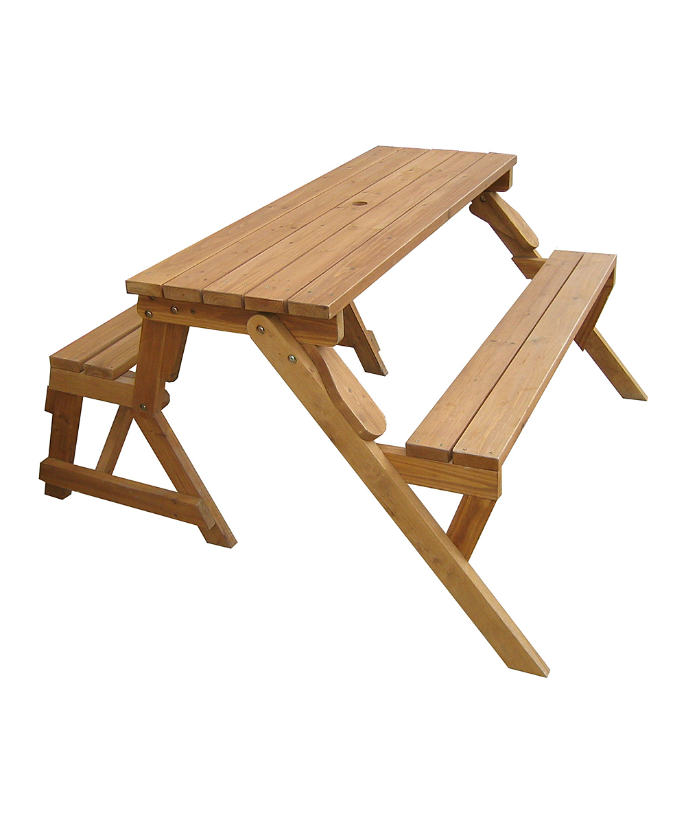 Merry products convertible picnic table garden bench zulily Picnic table that turns into a bench