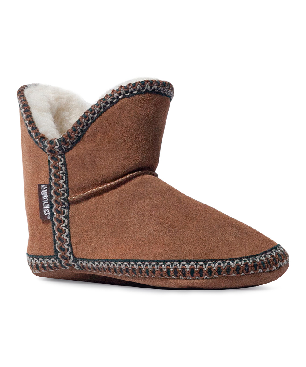 light brown amira suede slipper boots