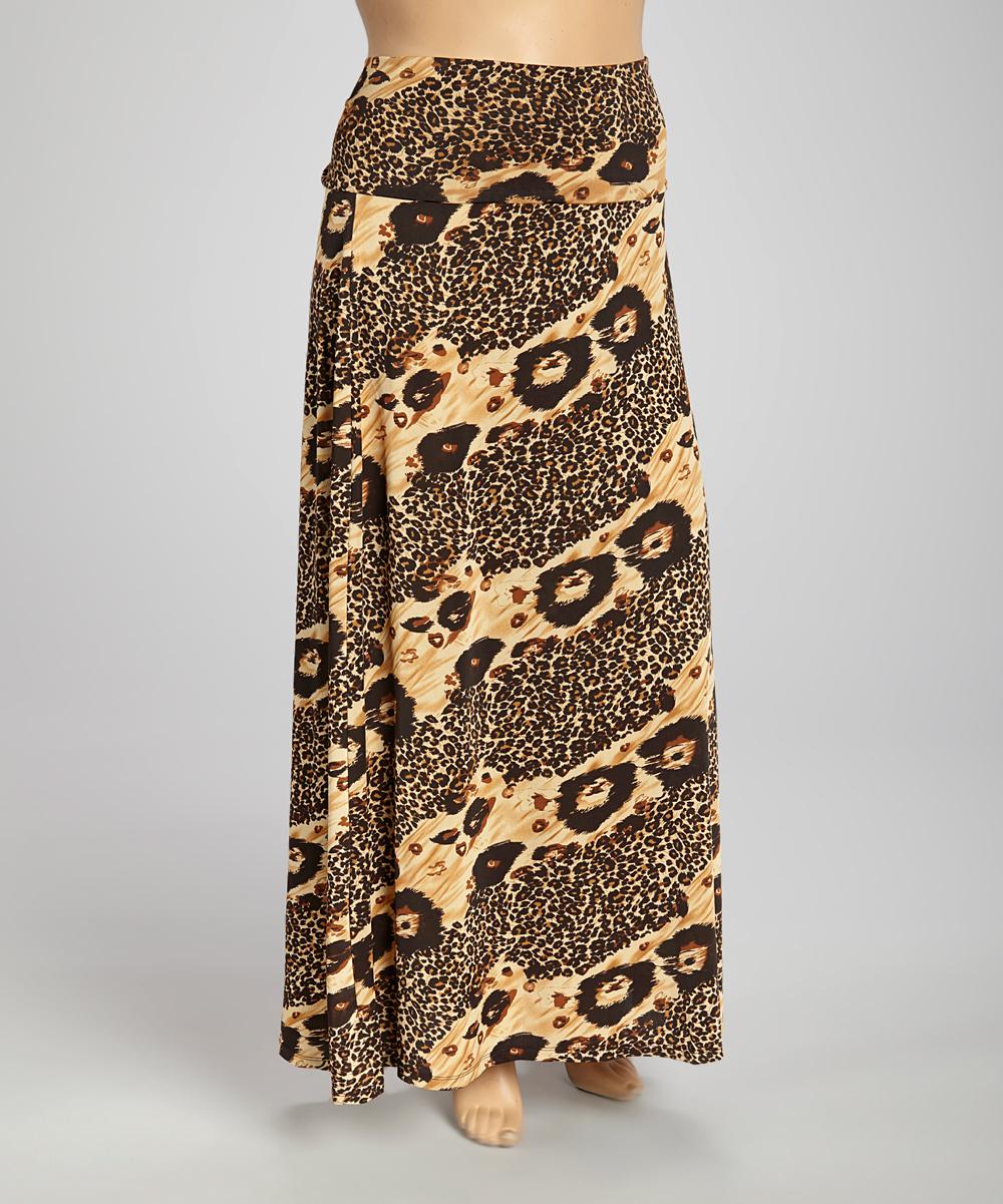 neutral black leopard maxi skirt set plus zulily