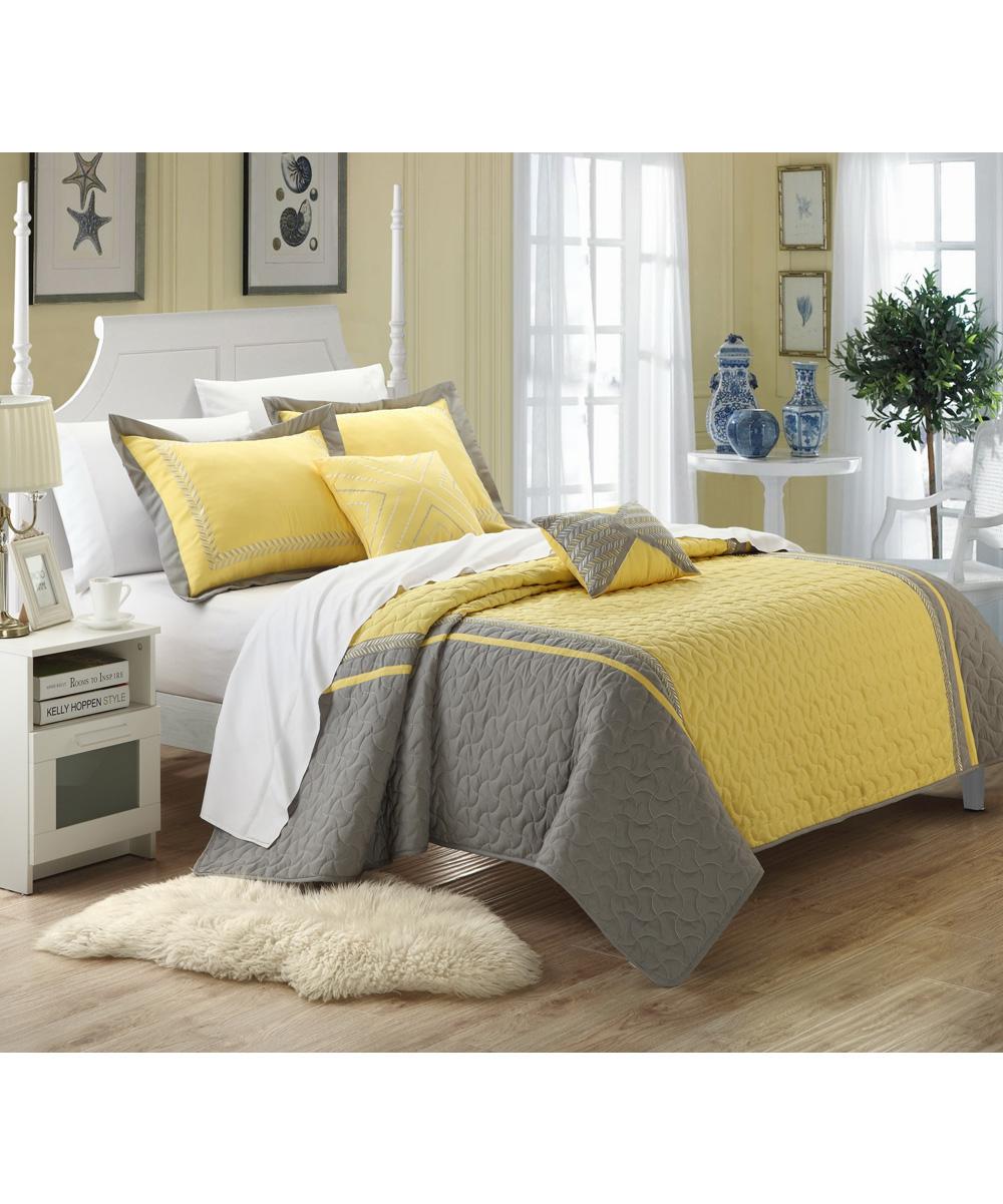 Yellow Rio Quilt Set