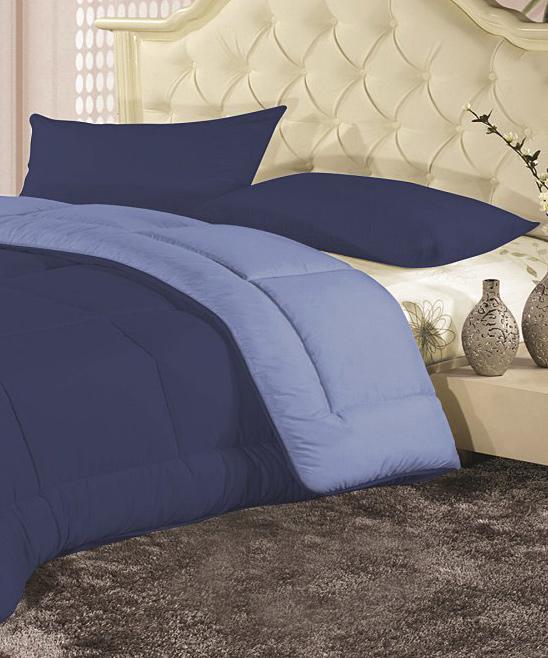 sdi textiles navy light blue reversible down alternative. Black Bedroom Furniture Sets. Home Design Ideas