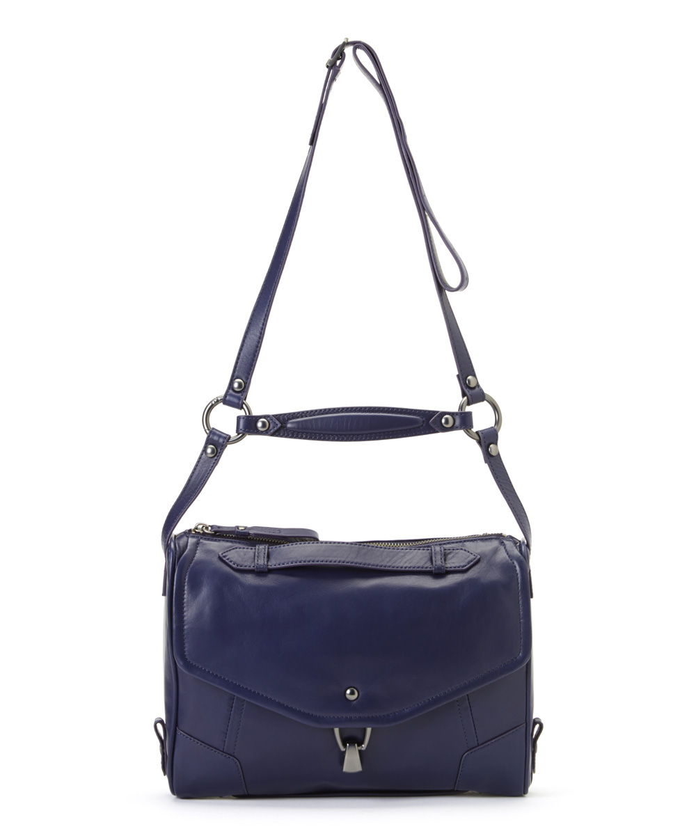 Blue Indigo Convertible Alexa Leather Crossbody Bag
