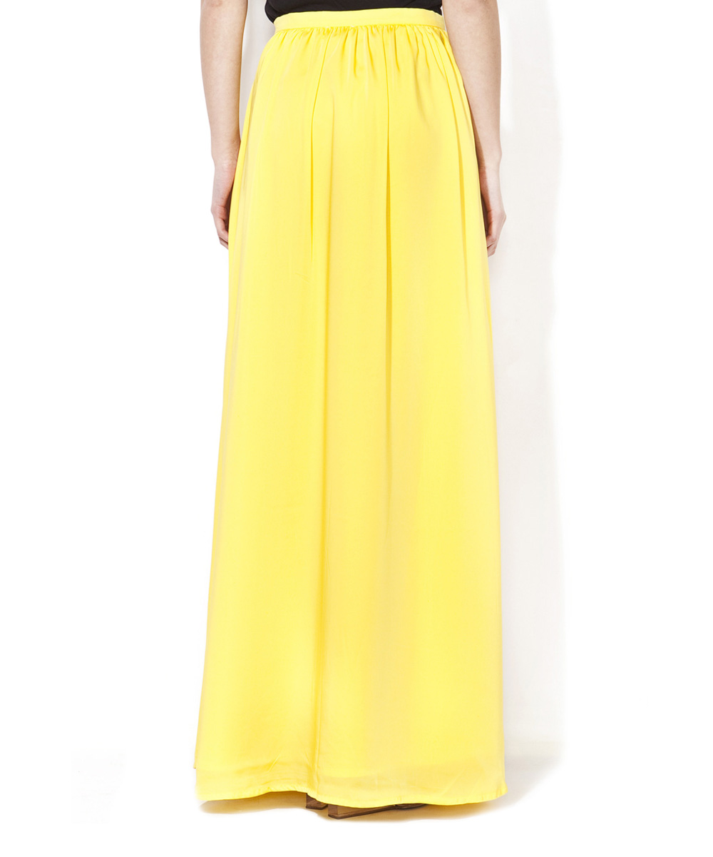 collection prc yellow maxi skirt zulily