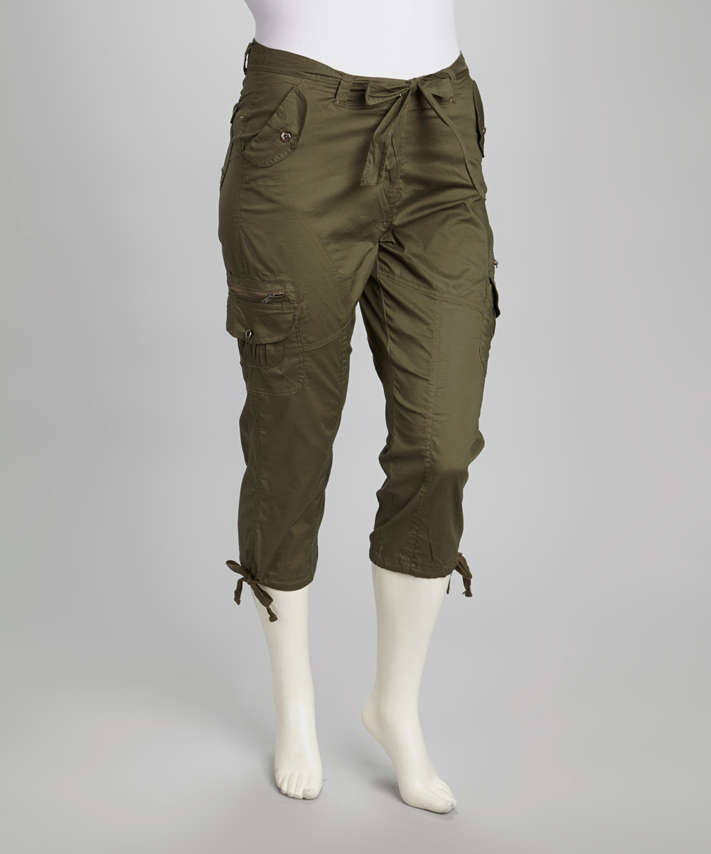 Lastest Volcom Womens Pants Frequency Fan Cargo Burnt Olive At Hansen39s Surf