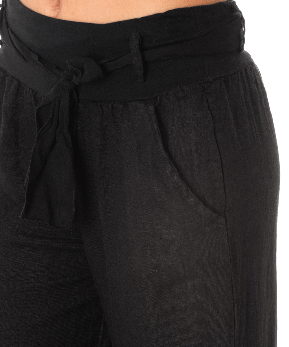 Unique Collection By Bobeau Tie Ankle Pants In Black  Lyst