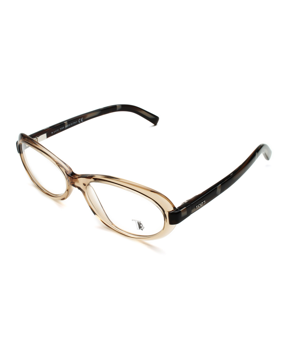 tods brown oval eyeglasses zulily